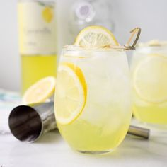 Limoncello Vodka Cooler. Sweet Limoncello, a hit of vodka and lots of ice make this the perfect summer cooler for those hot summer days.