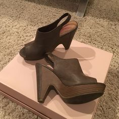 Unlisted sling back chunky wedge sandals Excellent condition! Worn twice. Very comfortable and great for pairing with jeans or dresses! Unlisted Shoes Heels