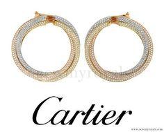 #TeamSportsAid - Kate Middleton Jewelry - Cartier Diamond 'Trinity de Cartier' Earrings www.newmyroyals.com