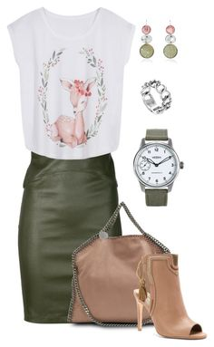 """TGIF @ The Office"" by akayhu ❤ liked on Polyvore featuring Getting Back To Square One, STELLA McCARTNEY, Cynthia Vincent, Bahina, John Hardy, Weiss, WorkWear and office"