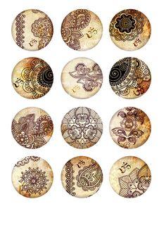 Oriental Henna drawing Om Mehndi Zen Yoga by MemoriesPictures