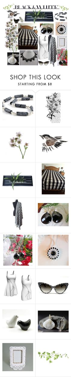 """Black & White Etsy"" by belladonnasjoy ❤ liked on Polyvore featuring Cadeau, Pennyblack, Vandor, modern, rustic and vintage"