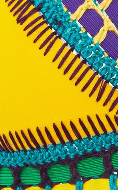 Ro Neon Threaded Yellow Bikini Top by Kiini - Moda Operandi