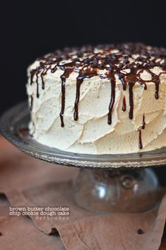 Brown Butter Chocolate Chip Cookie Dough Cake