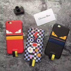 フェンディ iphone7/7 Plusケース欧米おしゃれブランドFendi怪獣モンスター大きい目オリジナル個性的アイフォン6s皮製質感保護カバー