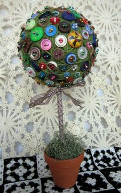 Image detail for -Cute as a button topiary11 Button Craft Ideas for the Home