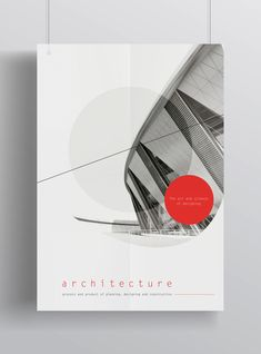 Cover layout, zwartwit + kleuraspect /architecture by j o v a n g r i n d e r b e e k , via Behance