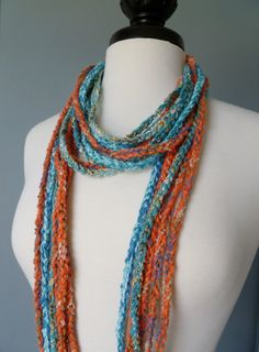 Necklace Scarf.... Blending Textures and Colors
