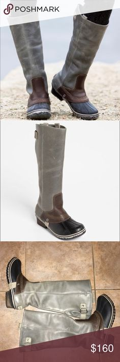 Sorel Slimpack Leather Riding Boot Shoes Flats 6.5 No Trades, No Box, Freshly Cleaned, Shows some minor wear around Boot Suede and on bottom soles SOREL Shoes Winter & Rain Boots
