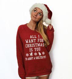 All I Want For Christmas Eco-Fleece Sweatshirt