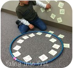 Multisensory clock activity using post its and a hula hoop to help students understand time telling and elapsed time!
