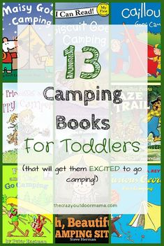 Do you need a gift for your outdoorsy friends, or need to help get your toddler excited about camping? These books make great camping gifts for toddles and preschoolers! If it's your toddler's first time camping, the ideas in these books about hiking and camping will really get them excited to get outside!