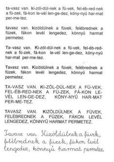 OLVASÁS GYAKORLÓ - webtanitoneni.lapunk.hu Math Equations, Album, Dyslexia, Card Book