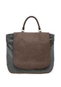 Rachel Comey Secrety Handle satchel. #bag #gray
