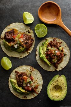 foodiebliss:Slow Cooker Shredded Beef TacosSource: Club Narwhal