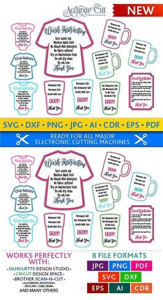Tumbler Cup Care Card Instructions Print And Cut File