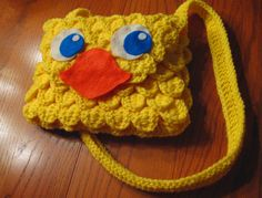 Chocobo inspired Purse - Crocheted Final Fantasy Video Game Bag. $65.00, via Etsy.
