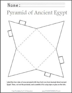 DIY Ancient Egyptian Pyramid | Fun end-of-unit project for kids.