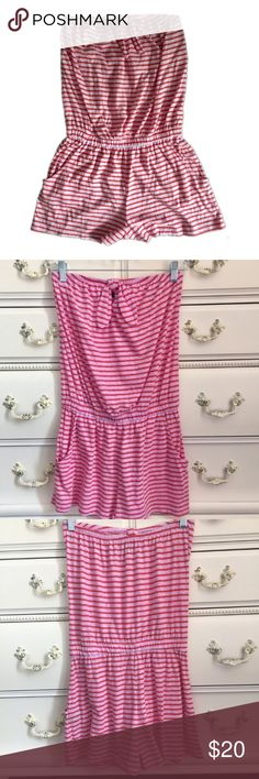Express Red and Pink Striped Romper Striped Express Romper. Sleeveless. Size Small. Excellent Condition! Let me know if you have any questions! ✅ I LOVE OFFERS ✅ 💜INSTAGRAM: @ocaputostyle Express Pants Jumpsuits & Rompers