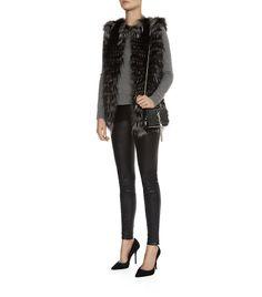 Harrods of London Long Fur Gilet Black Fur Vest, Fur Gilet, Luxury Beauty, Luxury Gifts, Harrods, Duster Coat, Autumn Fashion, Fashion Accessories, Jackets