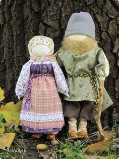Куклы День семьи  И осень к порогу давно подошла  Ткань фото 1