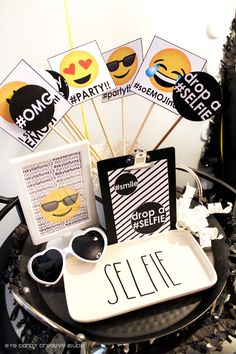 real party - emoji birthday party on eye candy creative studio