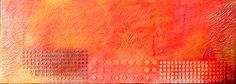 """Om, Fire"", Encaustic on Wood, x Zen Art, Om, Fire, Abstract, Gallery, Artwork, Artist, Painting, Summary"