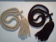 NO bead pure wool 100 knot Prayer rope Orthodox Christian pure