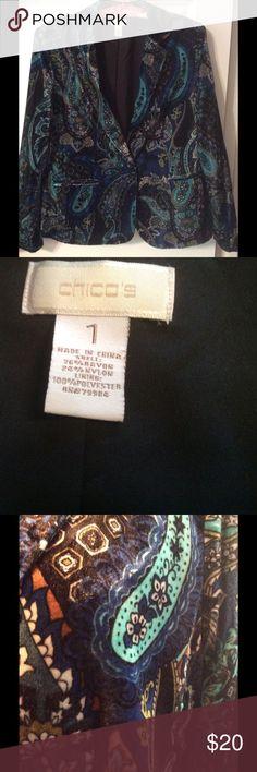 Paisley Pattern Chico's Jacket Paisley Pattern Chico's Jacket Chico's Jackets & Coats Blazers