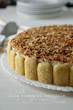 """Torta alla crema di nocciole """"Tonda e Gentile Piemonte IGP"""" e amaretti, è di una bontà strepitosa, vi consiglio di provarla! E' una torta che non necessi..."""