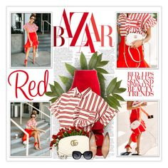 """Red"" by daiscat ❤ liked on Polyvore featuring Jacquemus, Gucci and Jimmy Choo"