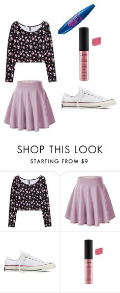 """""""Spring outfit"""" by legenius on Polyvore featuring H&M, Converse, NYX and Maybelline"""