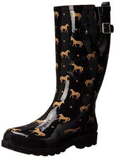 Western Chief Women's Horse Star Rain Boot