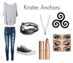 """Kristie: Anchors"" by tvdcjm ❤ liked on Polyvore featuring Vero Moda, Charlotte Tilbury and Converse"