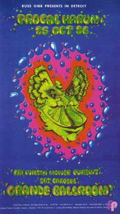 10/25-26/ 1968 ....  Classic Poster ..       Grande Ballroom  .... Detroit ..       ..... Procol Harum ......  Wilson Mower Pursuit ........ .  Carousel ................. .    artist ...... DR. MABUSE