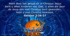 20 juli 2017 - Bijbeltekst van de dag - Galaten 3:26-27 - DailyVerses.net
