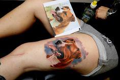 Dog Leg Tattoo
