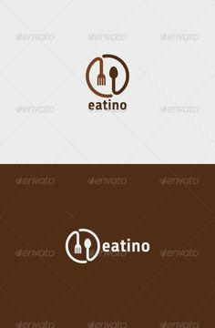 Eatino Logo   #GraphicRiver         Eatino Logo   A simple logo template suitable for a restaurant, cafe, diner, cook shop, etc.   Features: - Vector format - File format : EPS, PDF and SVG in RGB - Easy editable scale and color   Font used: Share-Regular     Created: 11September13 GraphicsFilesIncluded: VectorEPS Layered: No MinimumAdobeCSVersion: CS Resolution: Resizable Tags: breakfast #brown #cafe #chef #circle #cook #cooking #diner #eat #eating #fork #kitchen #lunch #meal #round…