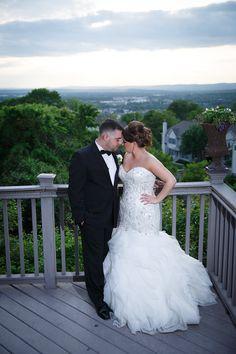 Moonlight Real Bride Kristin in our beaded mermaid wedding gown