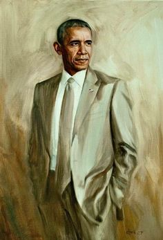 The Official Portrait of 44. Look at this man. Look at him. This is what a President looks like. This is what a confident, compassionate, secure, humanitarian looks like. Damn. I miss him. Him and his 'scandalous' tan suit.