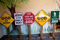 Children's ministry railroad theme walls | Children's Ministries - Hermitage United Methodist Church