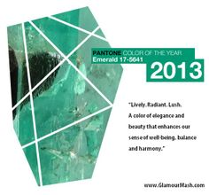 Panton's Color of the Year?! Emerald!