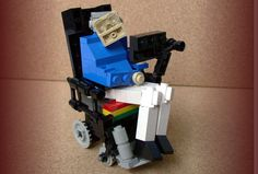 Science block ... Prof Hawking in Lego tasteless or too funny for words?