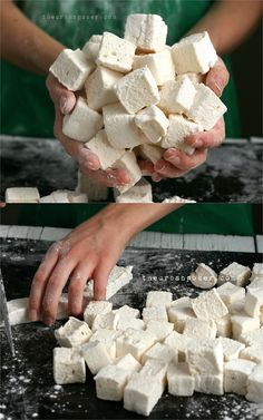Rustic Homemade Honey Sweetened Marshmallows (corn/egg/dairy/gluten free)