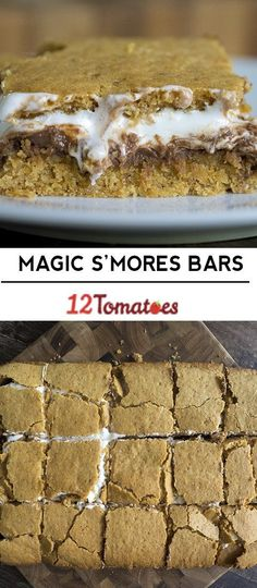 Magic S'mores Bars - So here's the rundown on these – You have a chocola. Yummy Treats, Delicious Desserts, Sweet Treats, Dessert Recipes, Yummy Food, Cheesecake Desserts, Raspberry Cheesecake, Cake Recipes, Graham Cracker Cookies