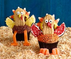 Peanut butter turkey cupcakes.