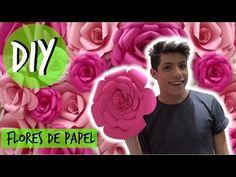 DIY - FLORES GIGANTES DE PAPEL PARA DECORAÇÕES - YouTube