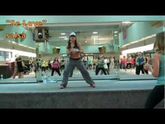 zumba - This is actually a REAL latin american dance style and this woman is way good but super fast!!