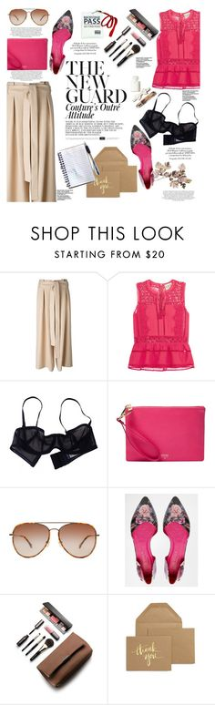 """""""Tricky Trend: Chic Culottes"""" by hafsahshead ❤ liked on Polyvore featuring Avelon, Sea, New York, Eres, FOSSIL, Michael Kors, Maroc, Ted Baker, Laura Mercier, Sugar Paper and TrickyTrend"""