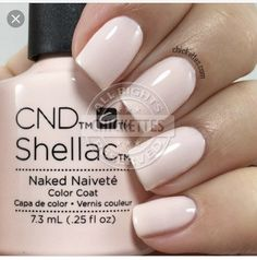 The advantage of the gel is that it allows you to enjoy your French manicure for a long time. There are four different ways to make a French manicure on gel nails. Shellac Nail Colors, Cnd Nails, Cnd Colours, Essie, Cream Nails, Manicure Y Pedicure, Neutral Nails, Tips Belleza, Perfect Nails